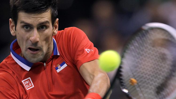Serbia leads Czech Republic 1-0 in Davis Cup