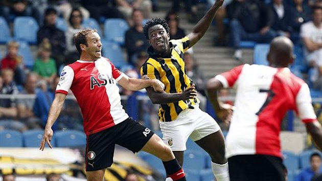 Wilfried Bony in action for Vitesse Arnhem (AFP)