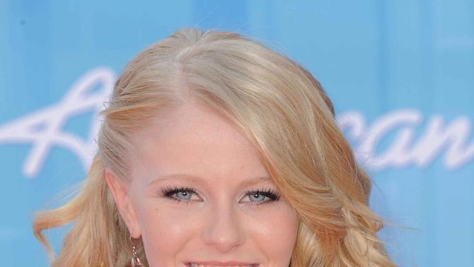 Hollie Cavanagh arrives at the American Idol Finale on Wednesday, May 23, 2012 in Los Angeles. (Photo by Jordan Strauss/Invision/AP)