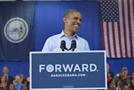 "<p>US President Barack Obama speaks during a campaign event July 13, in Hampton, Virginia. Obama said close scrutiny of Romney's overall record was merited because his opponent was using his business background and ability to become ""Mr Fix-It on the economy,"" as ""his main calling card.""</p>"