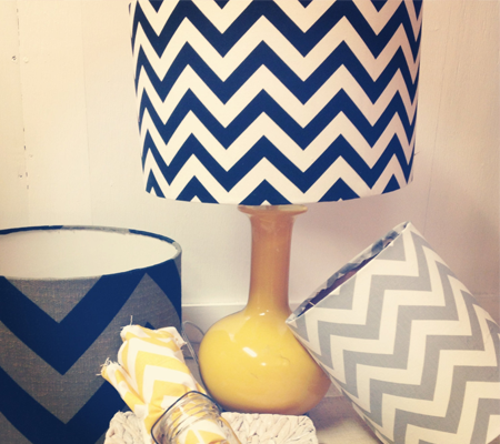 Chevron Lamp Shades