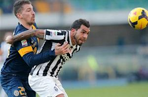 Tevez unhappy with Juve draw
