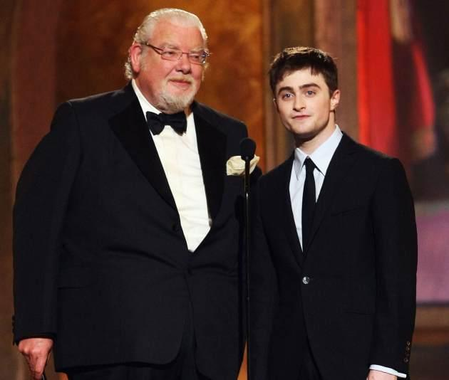 Richard Griffiths (L) and Daniel Radcliffe present the Tony for Best Play onstage during the 62nd Annual Tony Awards held at Radio City Music Hall on June 15, 2008 in New York City -- Getty Images