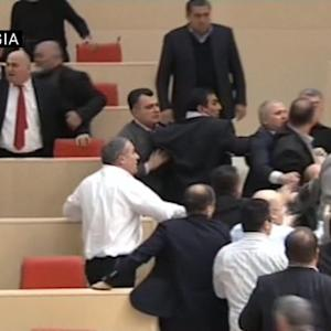 Brawl breaks out in Georgia's parliament