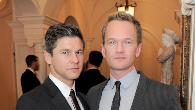 Neil Patrick Harris and David Burtka attend the LOUIS XIII and Audi Chairman's Circle Dinner for the Geffen Playhouse on Saturday, Nov. 17, 2012 at a private residence in Los Angeles. (Photo by Jordan Strauss/Invision LOUIS XIII/AP Images)