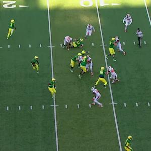 Highlight: Oregon football's Bralon Addison reverses field for 13-yard touchdown in Civil War
