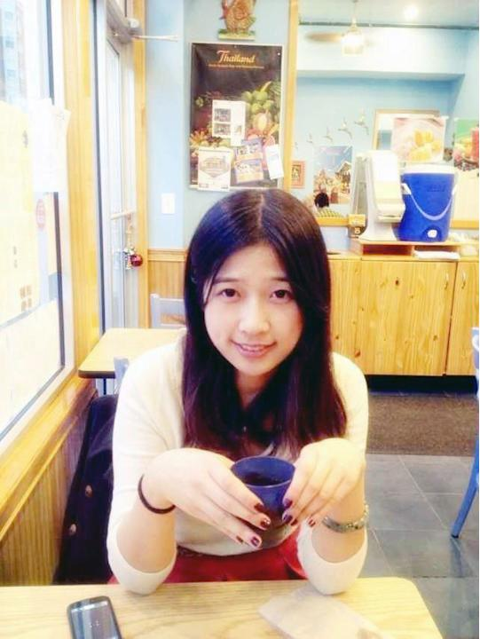 This undated photo provided by Meixu Lu shows Lingzi Lu in Boston. Boston University confirmed Wednesday, April 17, 2013, that Lingzi Lu, who was studying mathematics and statistics at the school and