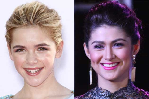 Kiernan Shipka andCarla Abellana