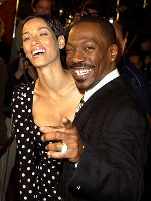 Eddie Murphy and his wife Nicole at the Hollywood premiere of Warner Brothers' Showtime