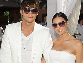 pst Diddys White Party Kutcher Moore