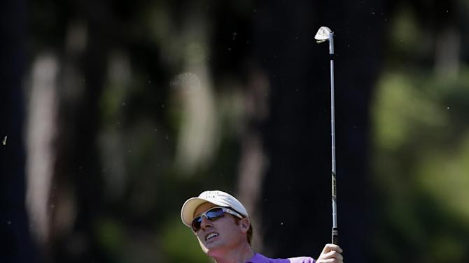 Roberto Castro watches his shot from the first fairway during the first round of The Players championship golf tournament at TPC Sawgrass, Thursday, May 9, 2013 in Ponte Vedra Beach, Fla. (AP Photo/John Raoux)