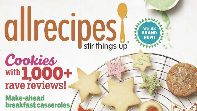 Meredith launches new food magazine 'Allrecipes'