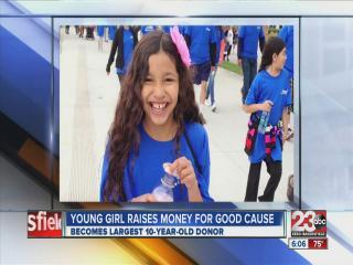 Young girl raising money for charity
