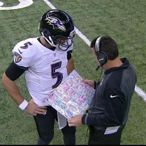 Kubiak's over-sized play card
