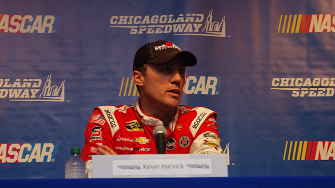 Harvick behind decision to finish Talladega race