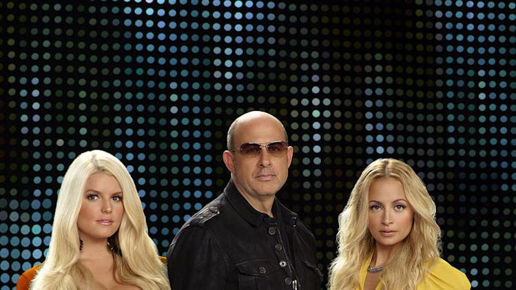 "Jessica Simpson, John Varvatos, and Nicole Richie in ""Fashion Star."""