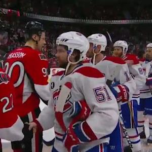 Canadiens and Senators handshake