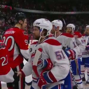 Canadiens and Senators handshake