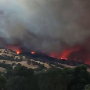 Raw: California Wildfire Prompts Evacuations