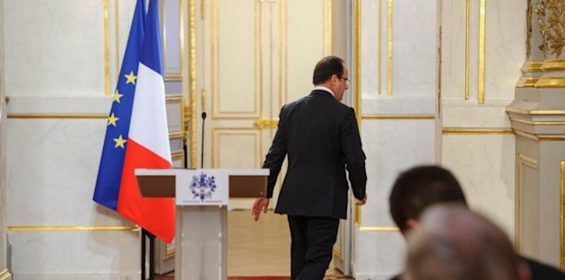 François Hollande le 11 avril 2013 à l'Élysée à Paris