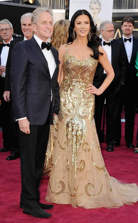 85th Annual Academy Awards - Arrivals: Michael Douglas and Catherine Zeta-Jones