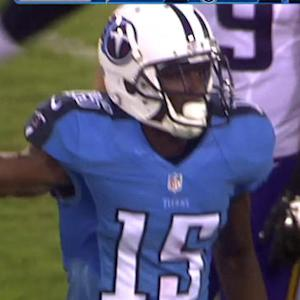 Tennessee Titans quarterback Zach Mettenberger to wide receiver Justin Hunter for 19 yards