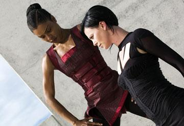 Sophie Okonedo and Charlize Theron in Paramount Pictures' Aeon Flux