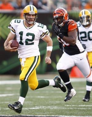 Rodgers leads Packers over Bengals 27-13