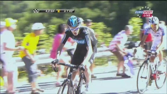 Froome attacks Wiggins, reeled in