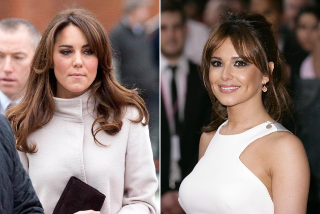 Kate Middleton and Cheryl Cole