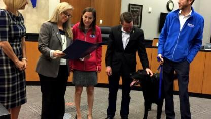 Everett the Rescue Dog Raises a Paw, Gets Sworn in as Mayor of Reno