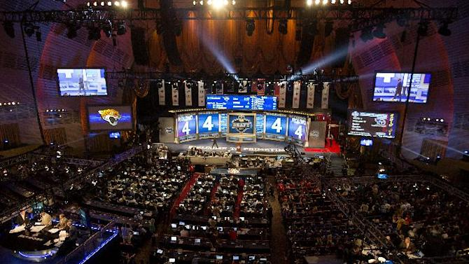 The fourth through seventh rounds of the NFL Draft gets underway Saturday, April 27, 2013 at Radio City Music Hall in New York. (AP Photo/Craig Ruttle)