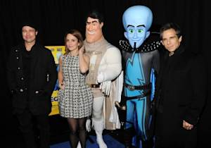 """Brad Pitt, Tina Fey and Ben Stiller attend the New York premiere of """"Megamind"""" at AMC Lincoln Square Theater on November 3, 2010 -- Getty Images"""