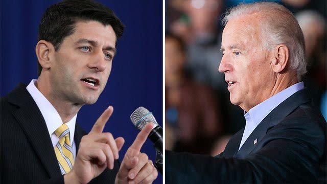 High stakes for Biden, Ryan in VP debate