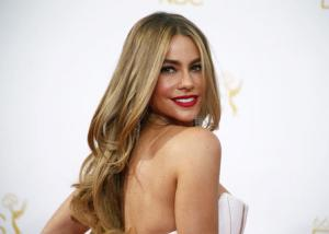 "Actress Sofia Vergara from the ABC sitcom ""Modern Family"" arrives at the 66th Primetime Emmy Awards in Los Angeles in this file photo"