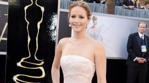 Jennifer Lawrence at the 2013 Oscars -- Access Hollywood