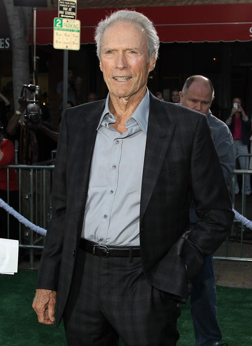 "Cast member Clint Eastwood attends the premiere of ""Trouble With the Curve"" at the Westwood Village Theater on Wednesday, Sept. 19, 2012, in Los Angeles. (Photo by Matt Sayles/Invision/AP)"