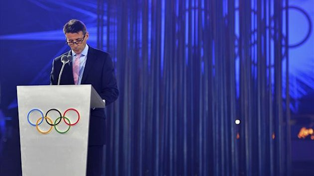 London 2012 chairman Sebastian Coe delivers his speech during the closing ceremony of the London 2012 Olympic Games at the Olympic stadium (Reuters)
