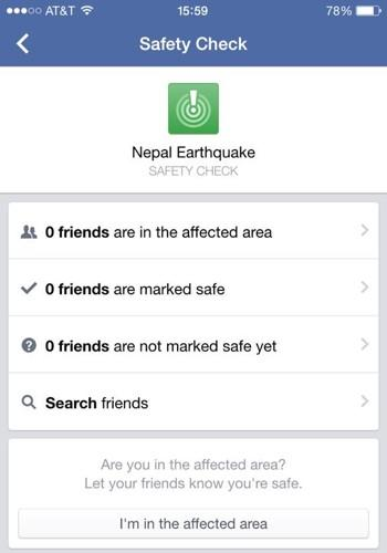 Updating Facebook to Say 'I'm Safe'