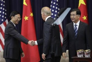U.S. Vice President Biden shakes hands with Chinese…