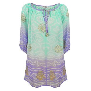 Silk Gypsy Dress Juliet Dunn: Beach