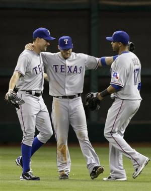 Baker's HR in 7th leads Rangers past Astros, 4-2