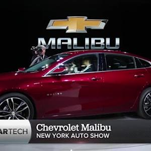Chevrolet's 2016 Malibu shows off its new curves in New York