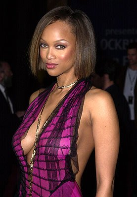 Tyra Banks Blockbuster Entertainment Awards Los Angeles, 4/10/2001