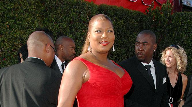 Queen Latifah arrives at the 59th Annual Primetime Emmy Awards at the Shrine Auditorium on September 16, 2007 in Los Angeles, California.