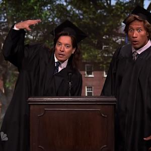 Dwayne Johnson and Jimmy Fallon's Terrible Graduation Speech