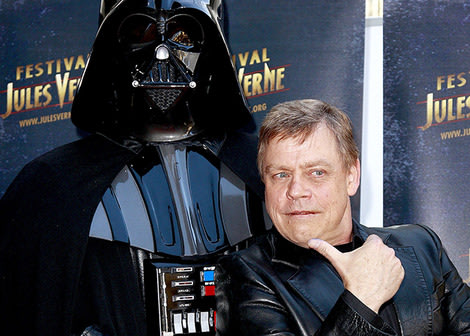 Like father like son... Mark Hamill with Darth Vader