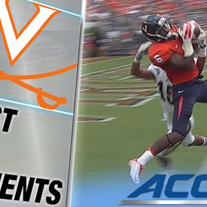 UVA's Darius Jennings Makes Tremendous Leaping TD Grab | ACC Must See Moment