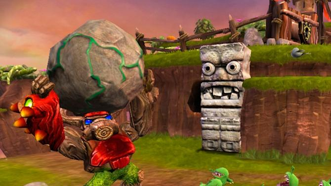 "This video game image released by Activision shows a scene from ""Skylander Giants."" (AP Photo/Activision)"