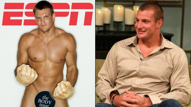 Rob Gronkowski on cover of ESPN the Magazine/Rob Gronkowski on Access Hollywood Live -- Access HollywoodESPN
